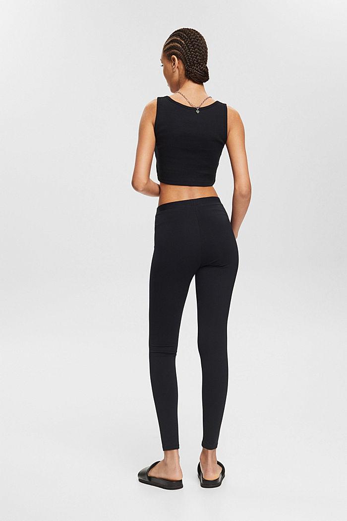 Leggings with organic cotton, BLACK, detail image number 3