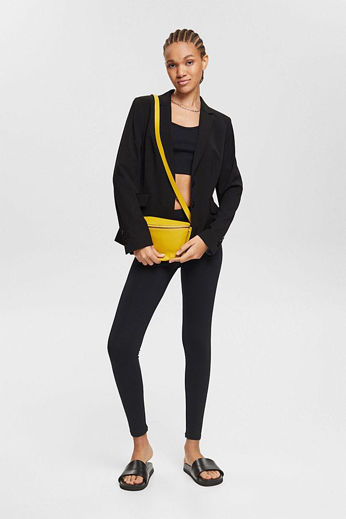 Leggings with organic cotton, BLACK, detail image number 1