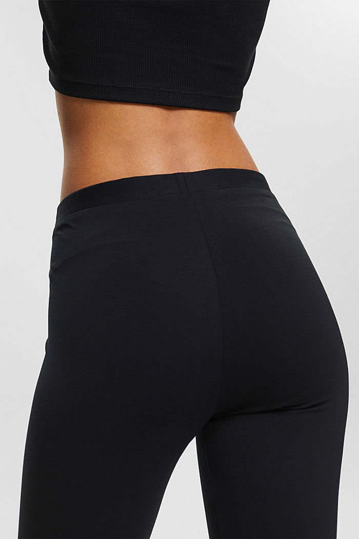 Leggings with organic cotton, BLACK, detail image number 2