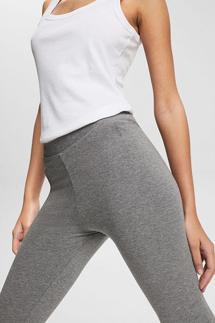 Leggings with organic cotton, GUNMETAL, detail image number 2
