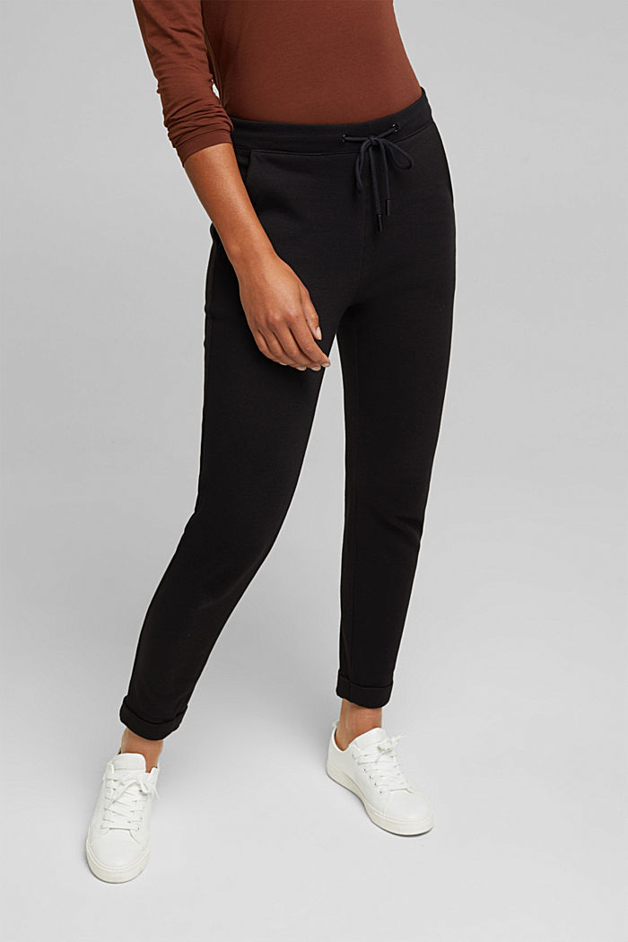 Stretch trousers in a tracksuit bottoms style