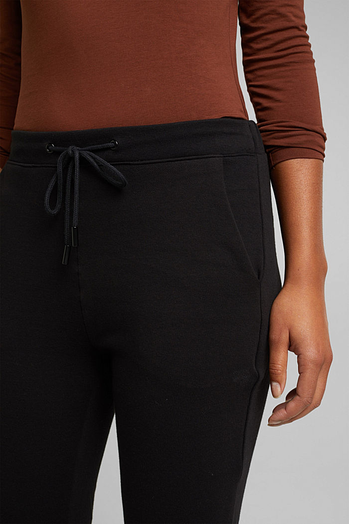 Stretch trousers in a tracksuit bottoms style, BLACK, detail image number 2
