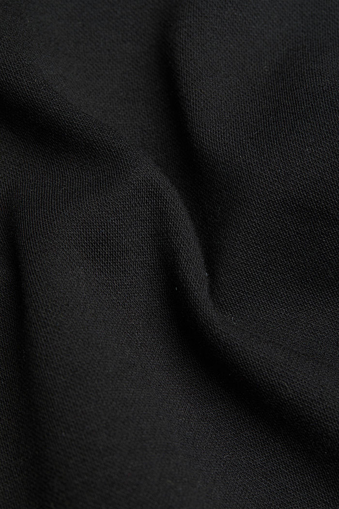 Stretch trousers in a tracksuit bottoms style, BLACK, detail image number 4
