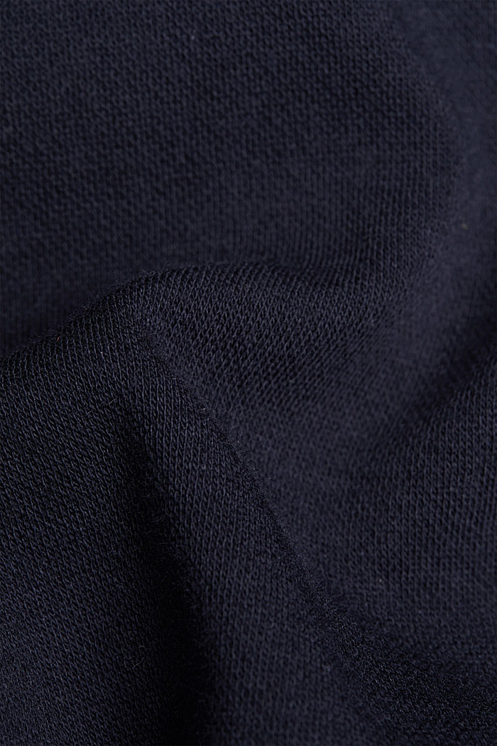 Stretch trousers in a tracksuit bottoms style, NAVY, detail image number 4