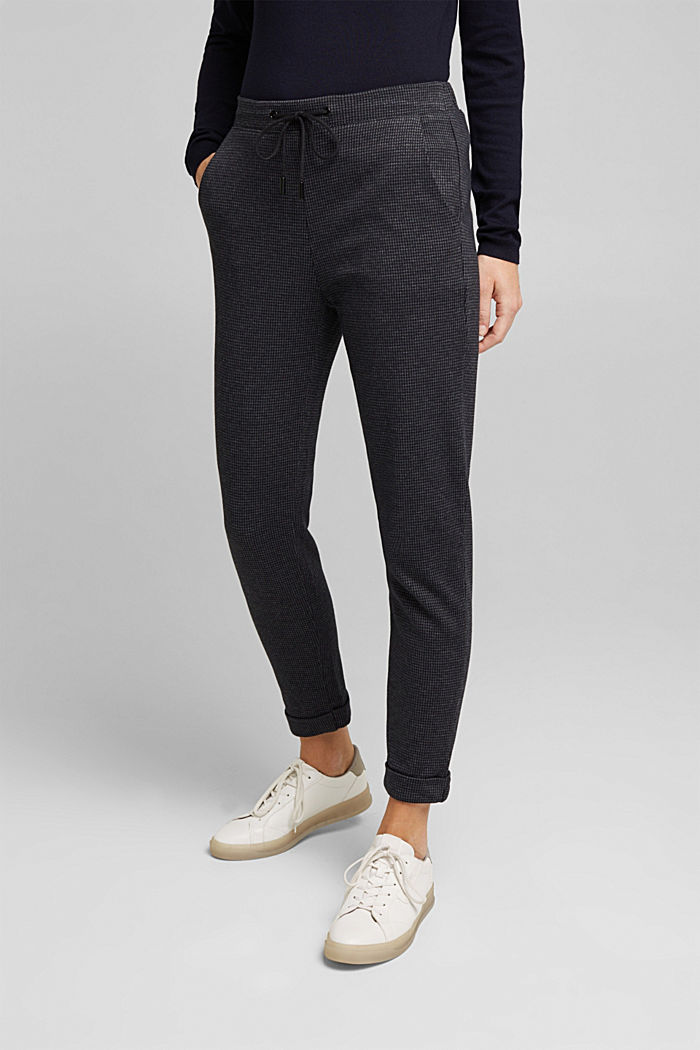 Jersey trousers in a tracksuit bottom style