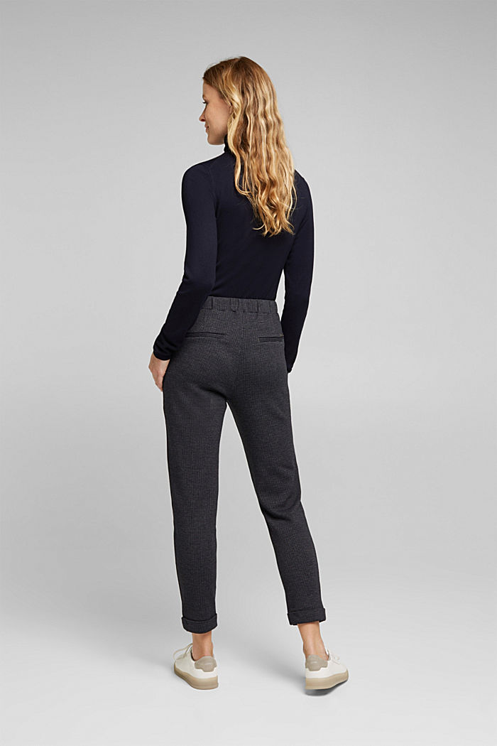 Jersey trousers in a tracksuit bottom style, GREY BLUE, detail image number 3