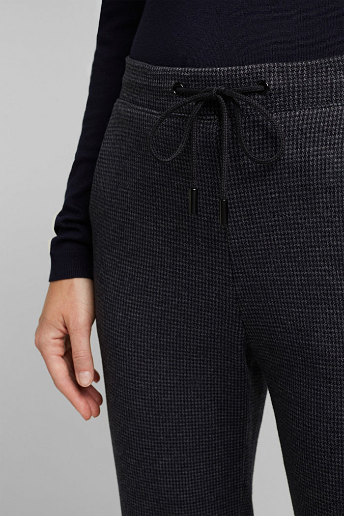 Jersey trousers in a tracksuit bottom style, GREY BLUE, detail image number 2