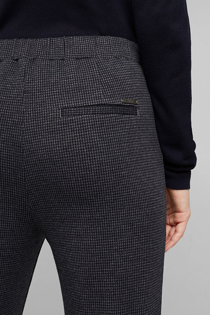 Jersey trousers in a tracksuit bottom style, GREY BLUE, detail image number 5