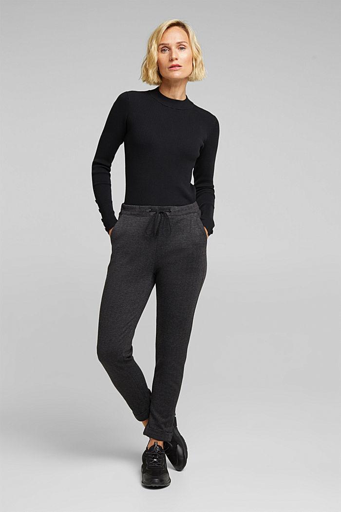 Pantalon à chevrons de style jogging, ANTHRACITE, detail image number 1