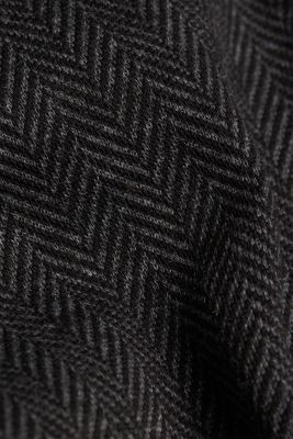 Herringbone trousers in a tracksuit bottom style, ANTHRACITE, detail