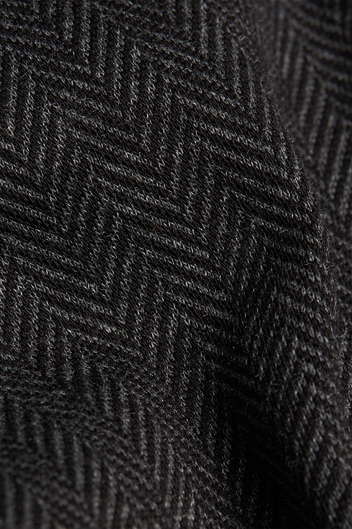 Herringbone trousers in a tracksuit bottom style, ANTHRACITE, detail image number 4