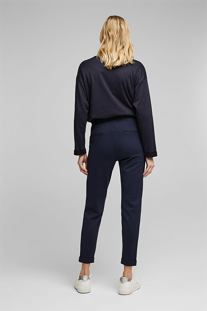 Jersey tracksuit bottoms, NAVY, detail image number 3