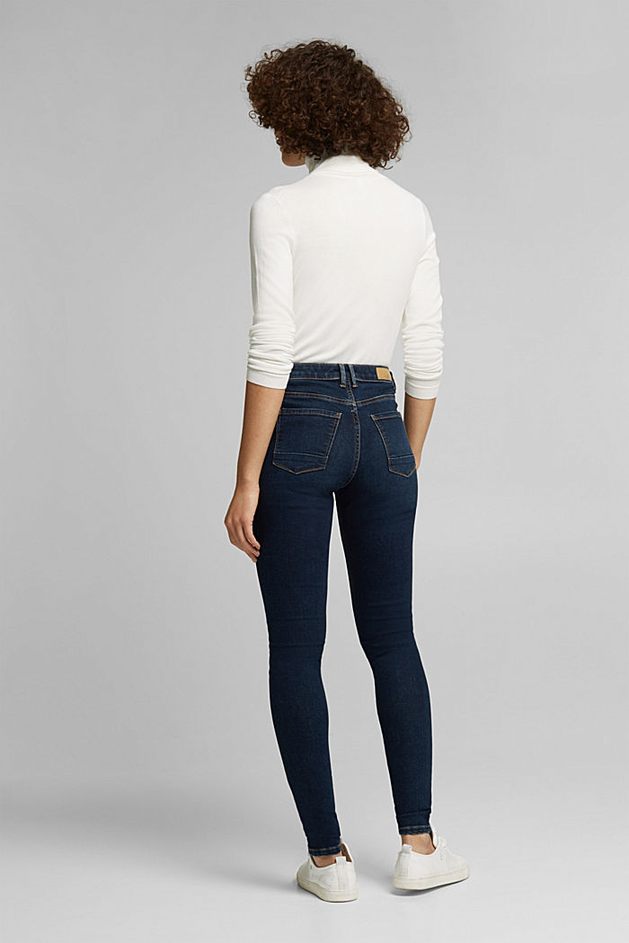 Stretch-Jeans mit Organic Cotton, BLUE DARK WASHED, detail image number 3
