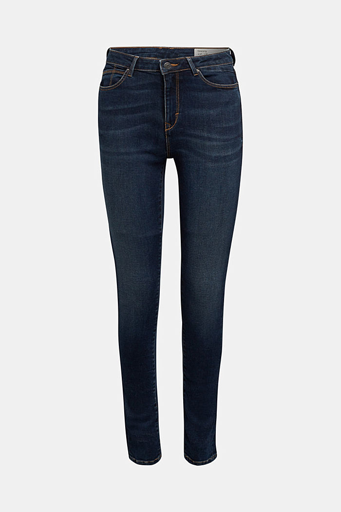 Stretch-Jeans mit Organic Cotton, BLUE DARK WASHED, detail image number 7