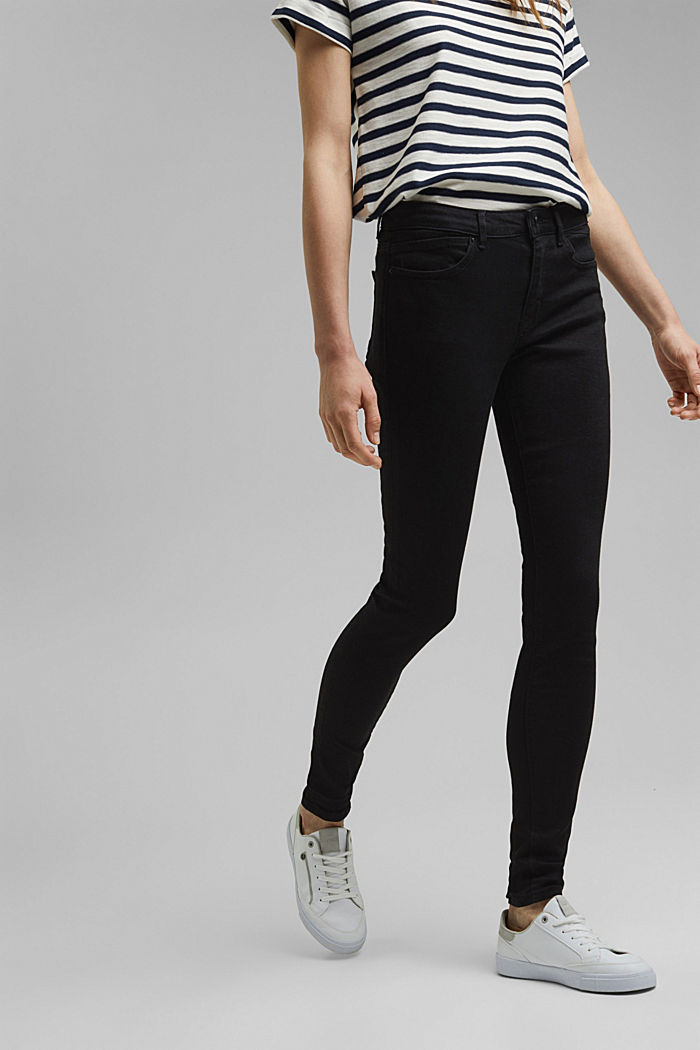 Stretch jeans containing organic cotton, BLACK RINSE, detail image number 0