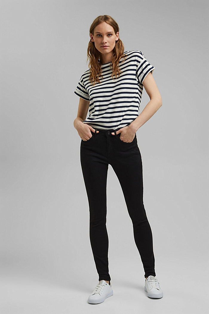 Stretch jeans containing organic cotton, BLACK RINSE, detail image number 1