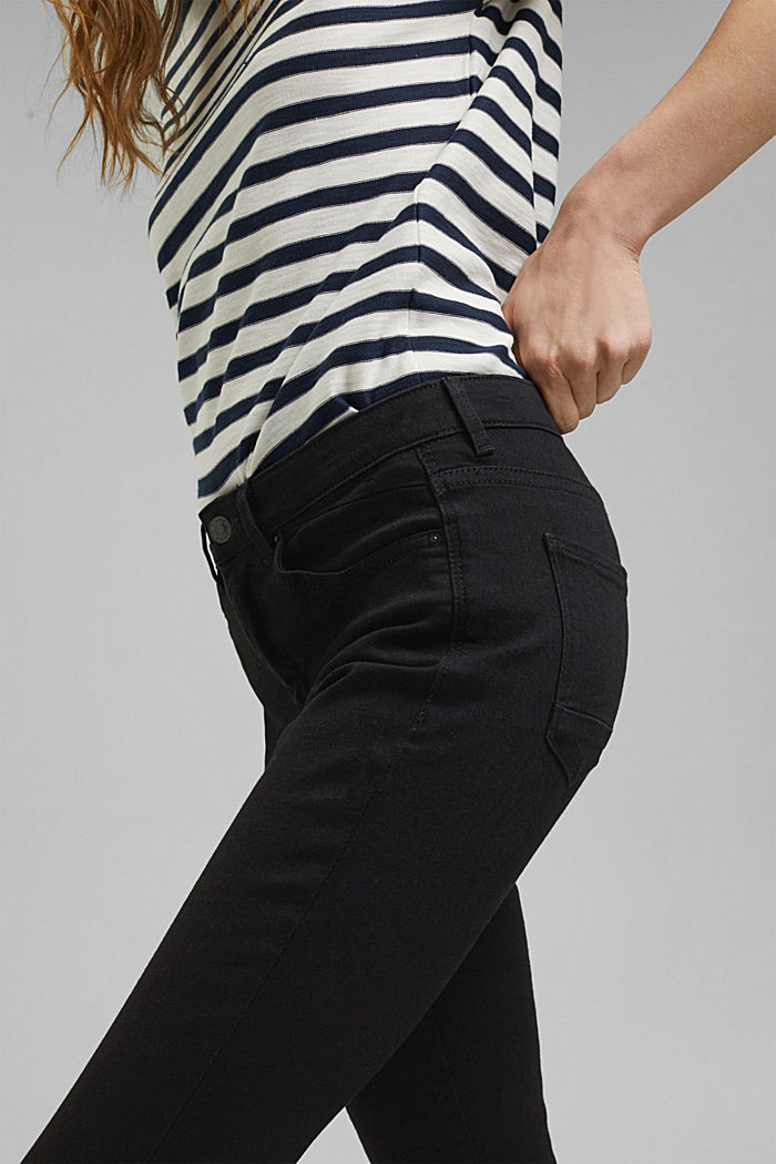 Stretch-Jeans mit Organic Cotton, BLACK RINSE, detail image number 2
