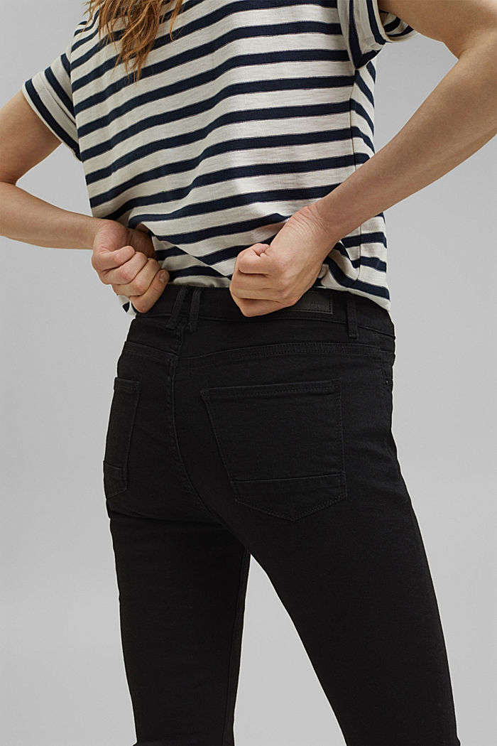 Stretch jeans containing organic cotton, BLACK RINSE, detail image number 5