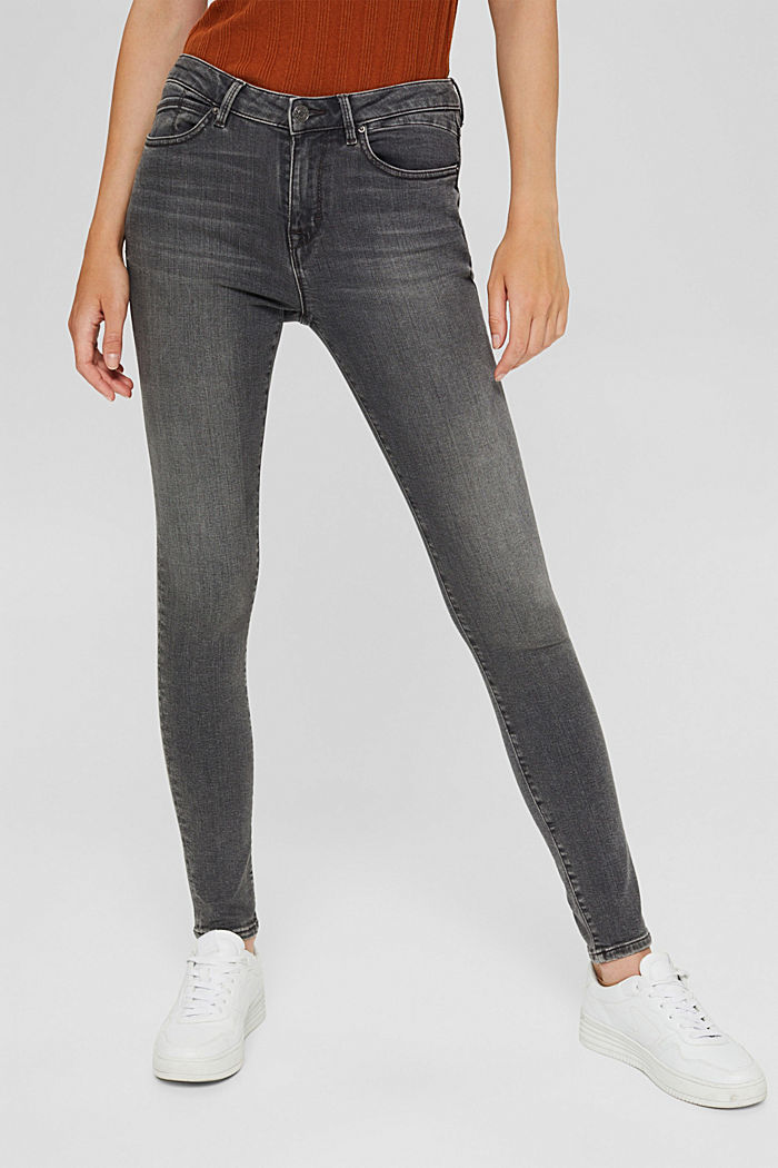 Stretch-Jeans mit Organic Cotton, GREY MEDIUM WASHED, detail image number 0