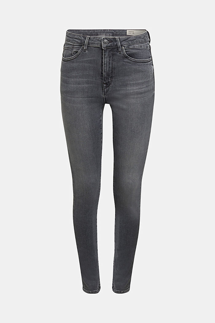 Stretch-Jeans mit Organic Cotton, GREY MEDIUM WASHED, detail image number 7