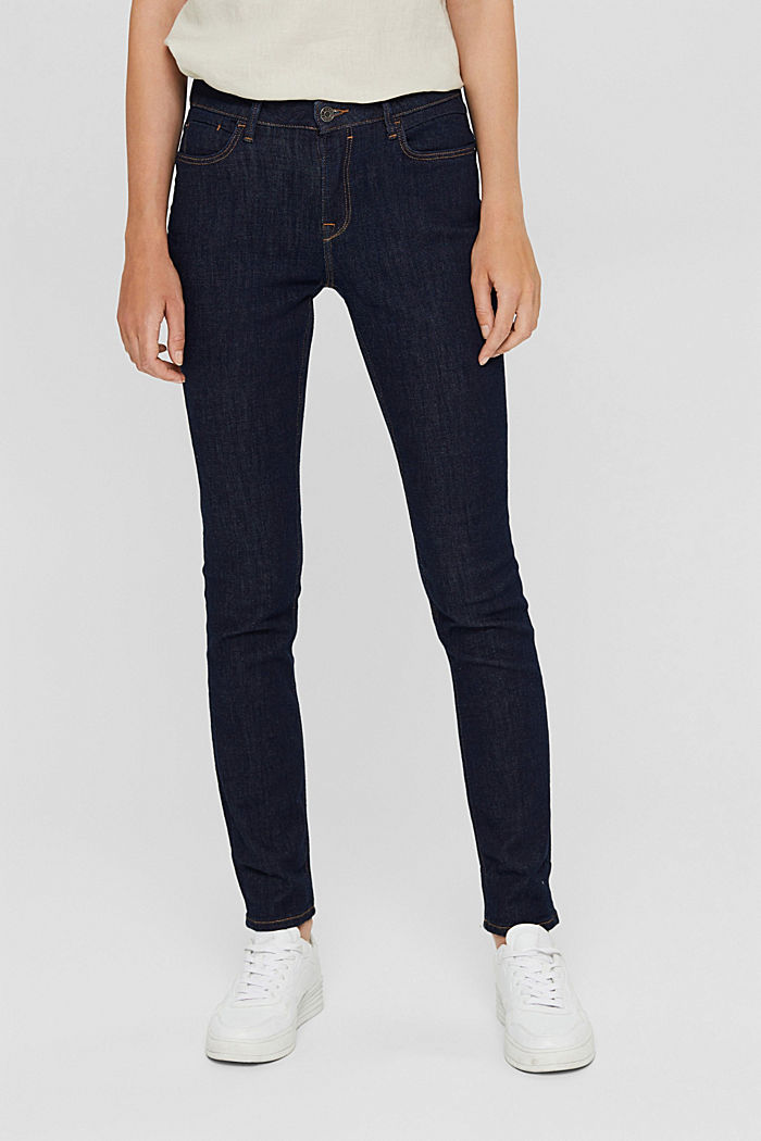 Stretch-Jeans aus Bio-Baumwolle, BLUE RINSE, detail image number 0