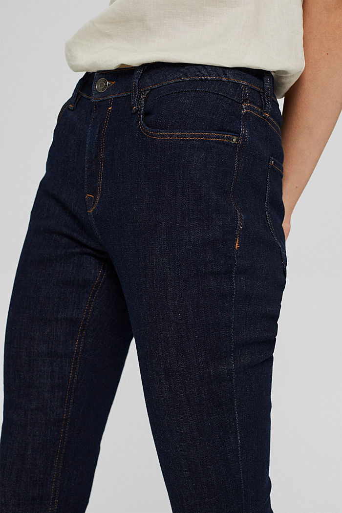 Stretch jeans made of organic cotton, BLUE RINSE, detail image number 2