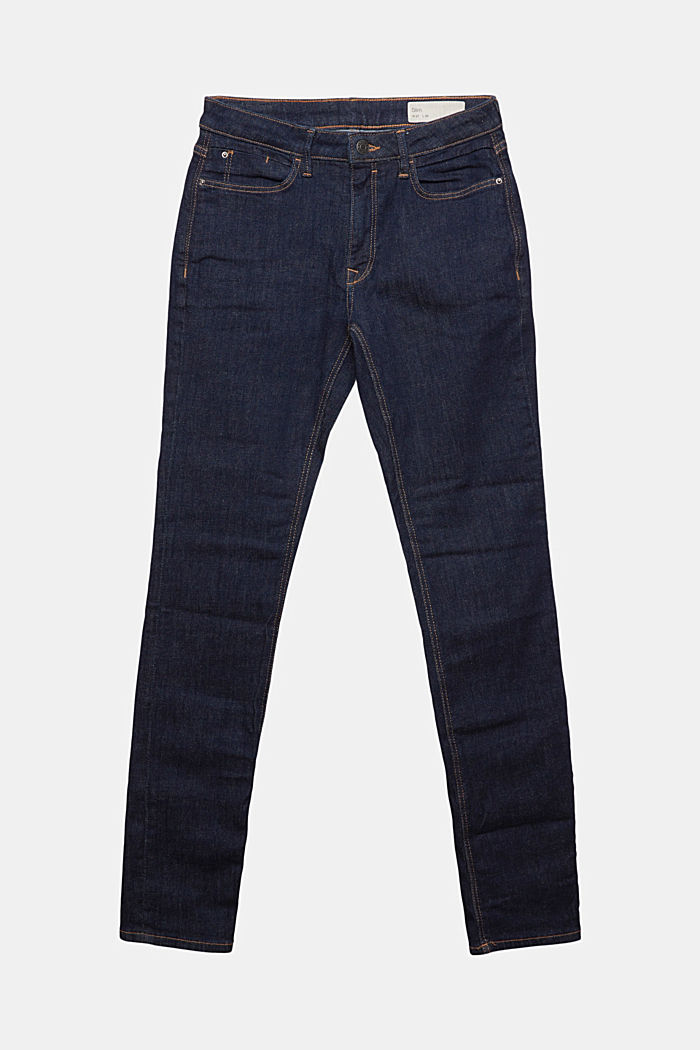 Stretch jeans made of organic cotton, BLUE RINSE, detail image number 7
