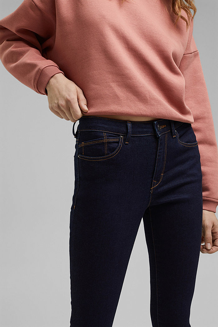 Stretch jeans containing organic cotton, BLUE RINSE, detail image number 2