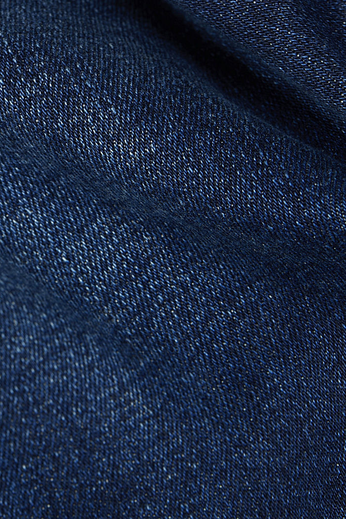 Stretch jeans in organic cotton, BLUE DARK WASHED, detail image number 4