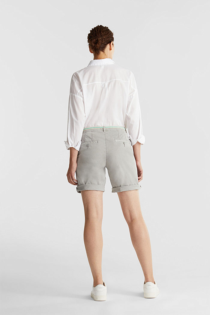 Chino shorts with a belt, LIGHT GREY, detail image number 2