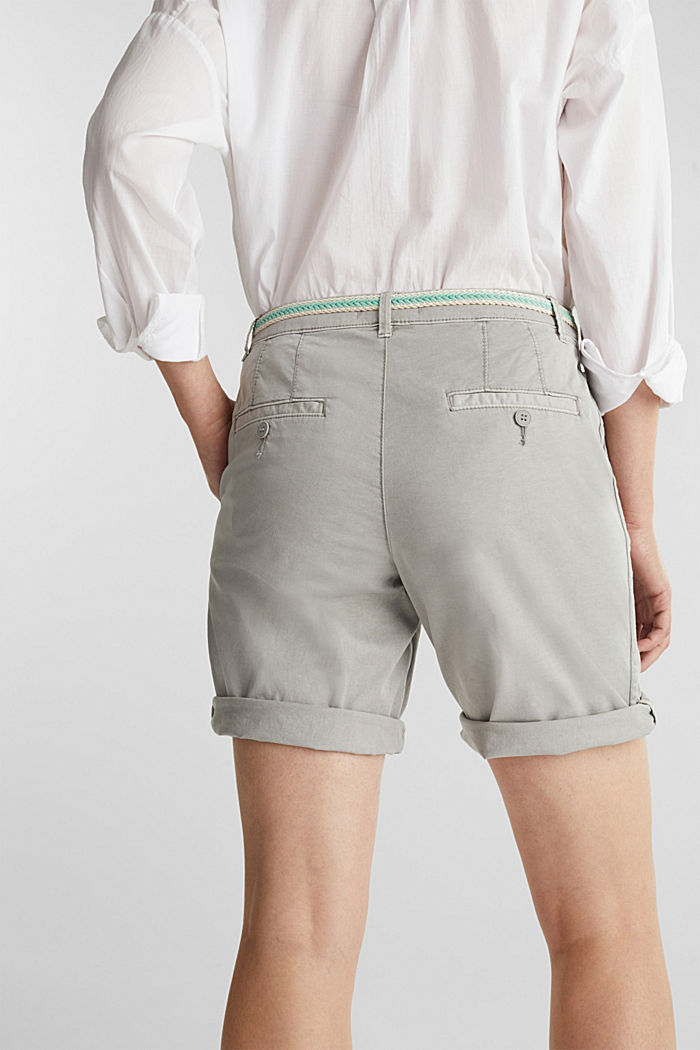 Chino shorts with a belt, LIGHT GREY, detail image number 4