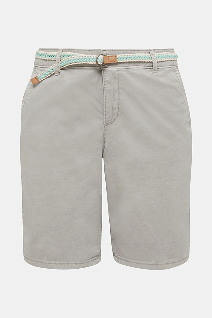 Chino shorts with a belt