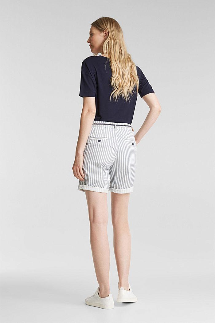 Chino-Shorts mit Gürtel, GREY BLUE, detail image number 3