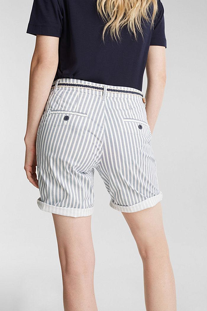 Chino-Shorts mit Gürtel, GREY BLUE, detail image number 2
