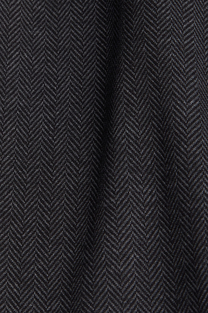 Jersey skirt with a herringbone pattern, ANTHRACITE, detail image number 4