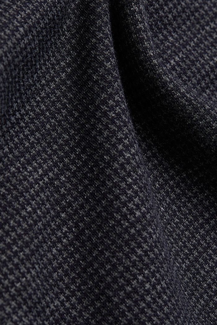 Jersey skirt with a houndstooth pattern, GREY BLUE, detail image number 4