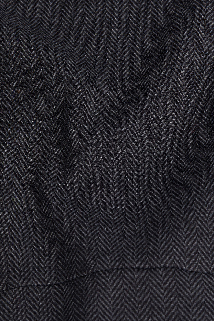 Sheath-style jacquard/jersey dress, ANTHRACITE, detail image number 4