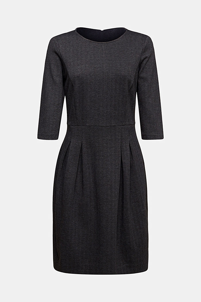 Sheath-style jacquard/jersey dress