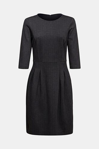 Sheath-style jacquard/jersey dress