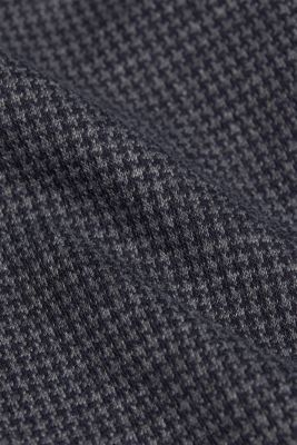 Jersey dress with a mini houndstooth pattern, GREY BLUE, detail