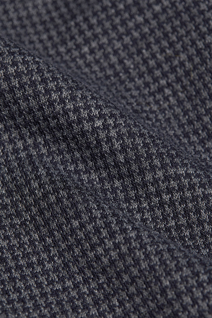 Jersey dress with a mini houndstooth pattern, GREY BLUE, detail image number 4