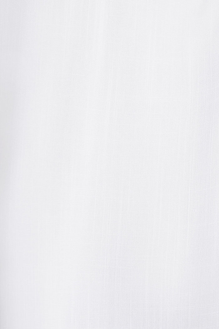 Blusa henley con mangas ajustables, WHITE, detail image number 4