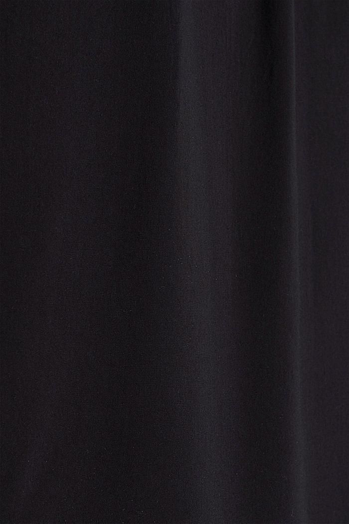 Blusentop aus LENZING™ ECOVERO, BLACK, detail image number 4