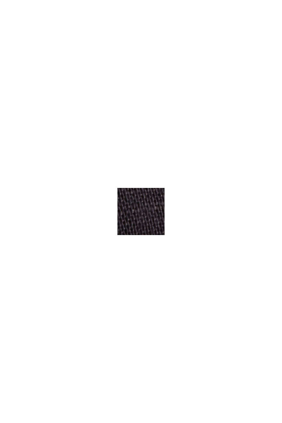 Aus Leinen-Mix: Hemd-Bluse, BLACK, swatch