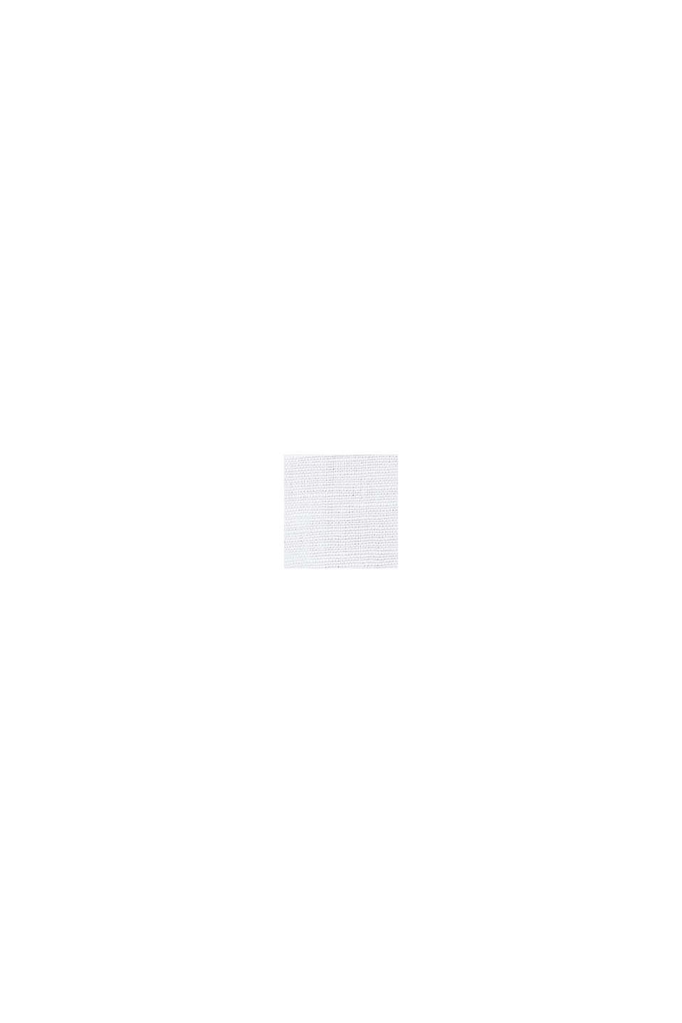 Aus Leinen-Mix: Hemd-Bluse, WHITE, swatch