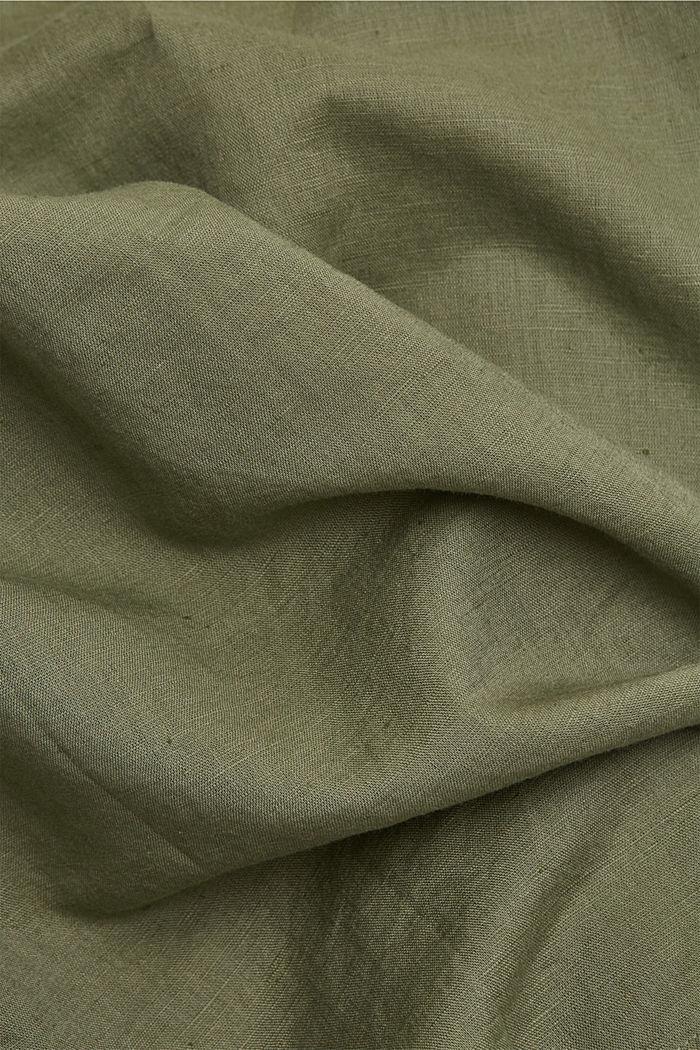 Aus Leinen-Mix: Hemd-Bluse, LIGHT KHAKI, detail image number 4