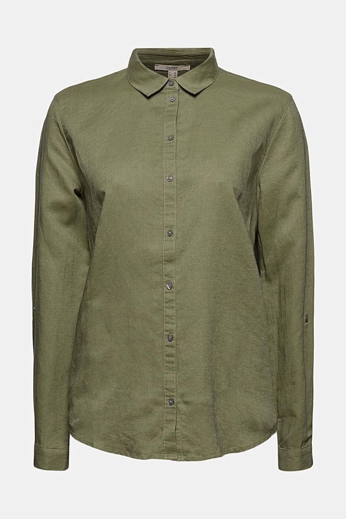 Linen blend: shirt blouse