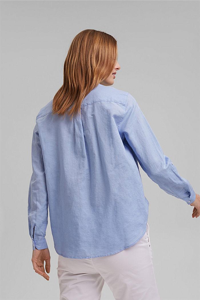 Linen blend: shirt blouse, LIGHT BLUE LAVENDER, detail image number 3