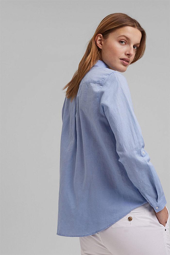 Linen blend: shirt blouse, LIGHT BLUE LAVENDER, detail image number 5
