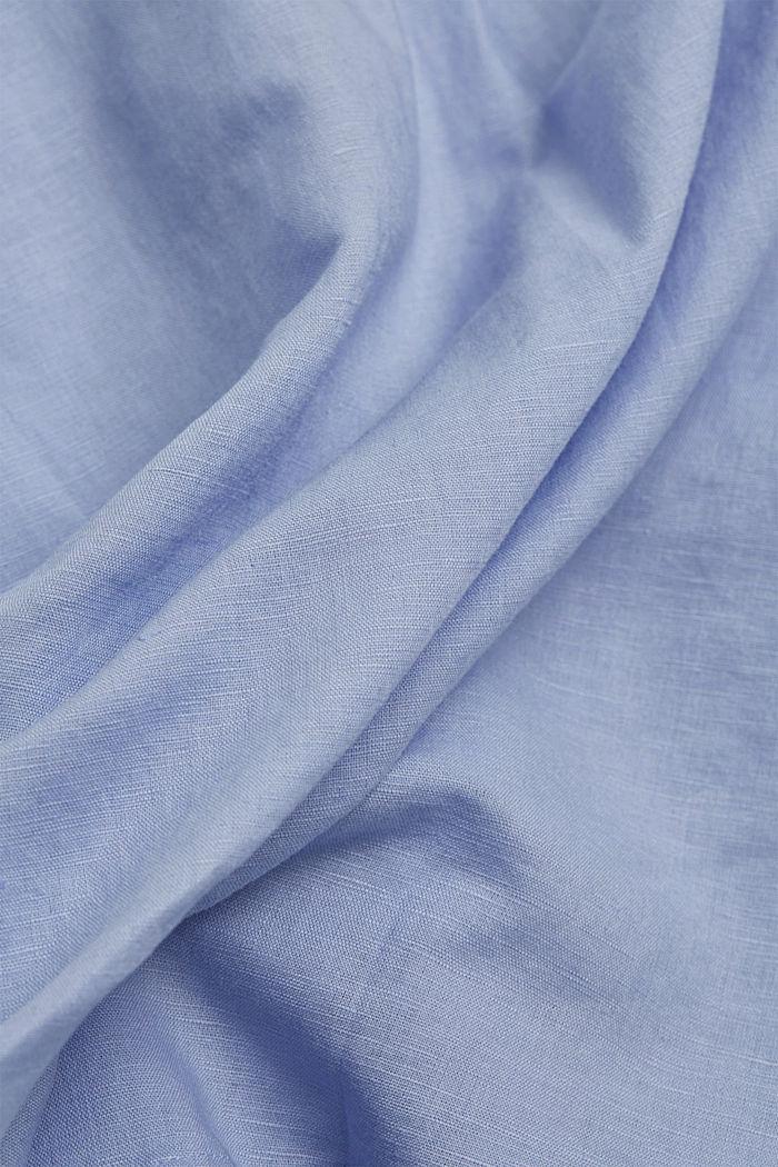 Linen blend: shirt blouse, LIGHT BLUE LAVENDER, detail image number 4